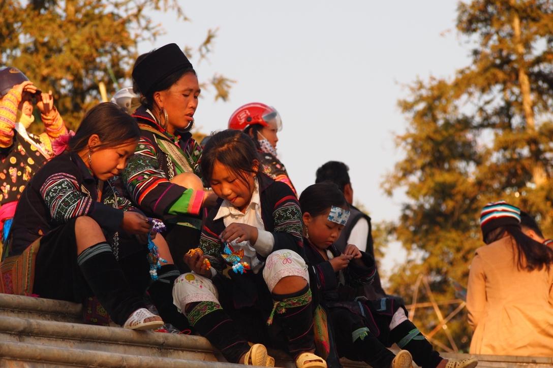 Genau wie diese Hmong-Familie.