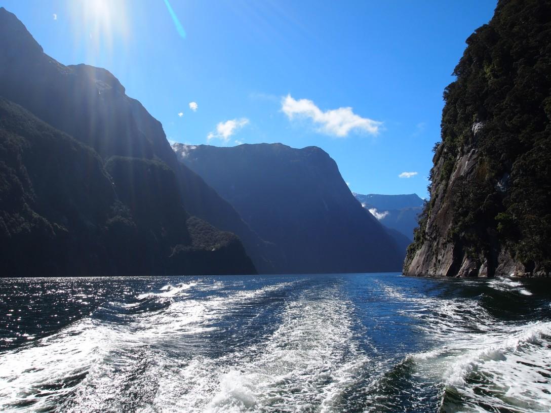 Mit dem Boot durch den Milford Sound
