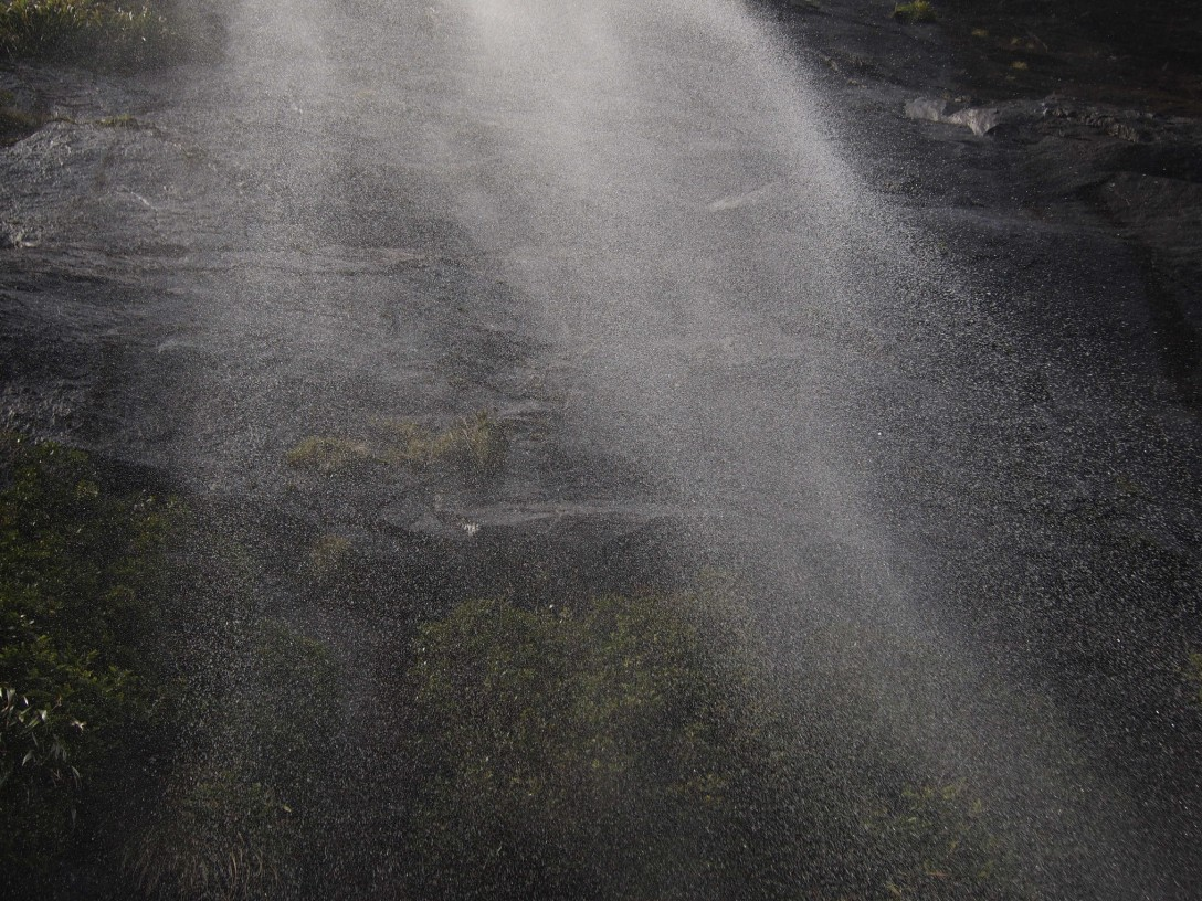 Mittendrin: im Wasserfall des Milford Sounds