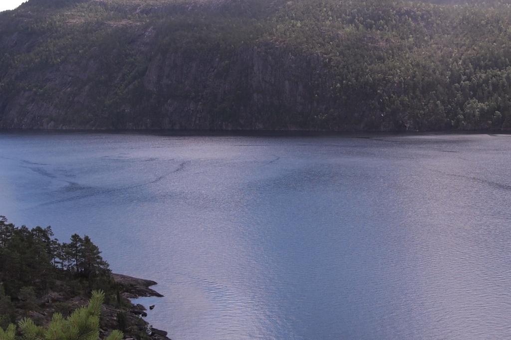 Blick auf den Telemarkkanal von hoch oben.