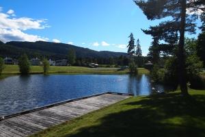 Der schöne Teil des Telemark Kanal Camping.