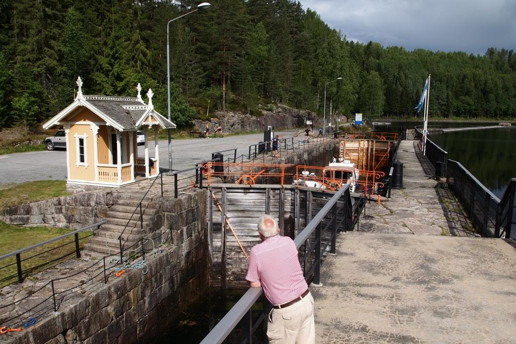 Eine von acht original erhaltenen Schleusen beim Telemarkkanal.